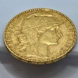 20 франков. 1905. Франция. Петух (золото 900, вес 6,45 г), фото №11