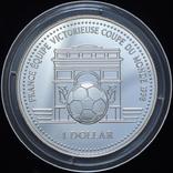 1 Доллар 1998 Чемпионат Мира по Футболу во Франции, Острова Кука, фото №2