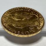 20 франков. 1907. Петух. Франция (золото 900, вес 6,46 г), фото №10