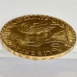 20 франков. 1908. Петух. Франция (золото 900, вес 6,43 г), фото №12