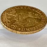 20 франков. 1909. Петух. Франция (золото 900, вес 6,45 г), фото №11