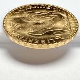 20 франков. 1910. Петух. Франция (золото 900, вес 6,47 г), фото №11