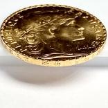 20 франков. 1910. Петух. Франция (золото 900, вес 6,47 г), фото №12