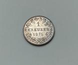 1 крейцер 1871 Вюртемберг, фото №4
