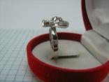 Новое Серебряное Кольцо Бабочка Камни Фианиты Размер 16.5 Серебро 925 проба 871, фото №4