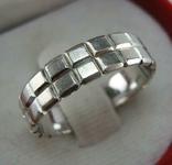 Серебряное Кольцо Размер 19.5 Бесконечность Узор Куб Плитка Серебро 925 проба 943