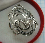 Серебряное Кольцо Размер 18.5 Камни Белые 925 проба Серебро 923
