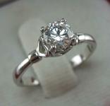 Серебряное Кольцо Камень Фианит Размер 16.5 Сердце Серебро 925 проба 921
