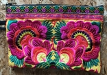 Сумочка клатч этническая, разноцветная цветочная вышивка, HMONG, Таиланд, фото №3