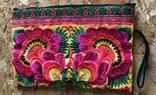 Сумочка клатч этническая, разноцветная цветочная вышивка, HMONG, Таиланд, фото №5