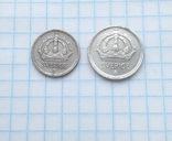 10 эре 1943г-25 эре 1947г Швеция серебро, фото №3