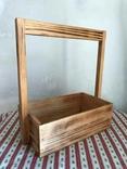 Деревянная корзинка корзина дерево, фото №2