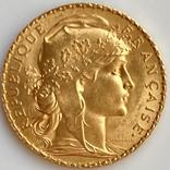 20 франков. 1911. Петух. Франция (золото 900, вес 6,47 г), фото №5