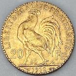 20 франков. 1912. Петух. Франция (золото 900, вес 6,47 г), фото №5