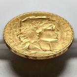 20 франков. 1912. Петух. Франция (золото 900, вес 6,47 г), фото №9