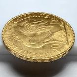 20 франков. 1912. Петух. Франция (золото 900, вес 6,47 г), фото №10