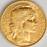 """20 франков. 1913. """"Петух"""". Франция (золото 900, вес 6,46 г), фото №13"""