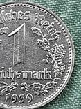 1 рейхсмарка 1939 Германия / Третий рейх буква В, фото №9