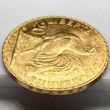 20 франков. 1914. Петух. Франция (золото 900, вес 6,46 г), фото №8