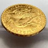 20 франков. 1914. Петух. Франция (золото 900, вес 6,46 г), фото №9