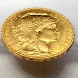 20 франков. 1914. Петух. Франция (золото 900, вес 6,46 г), фото №10
