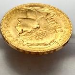 20 франков. 1914. Петух. Франция (золото 900, вес 6,46 г), фото №11