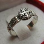 Серебряное Кольцо Крест Размер 16.0 Господи помилуй меня грешного 925 проба Серебро 546