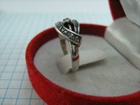 Серебряное Кольцо Камень Размер 16.0 Молитва Господи Спаси и сохрани 925 проба Серебро 692, фото №4