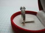 Новое Серебряное Кольцо Размер 18.25 Молитва Камень 925 проба Серебро Православное 587, фото №4
