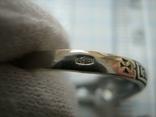 Новое Серебряное Кольцо Размер 18.25 Молитва Камень 925 проба Серебро Православное 587, фото №6
