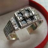 Новое Серебряное Кольцо Перстень Размер 23.5 Крест Молитва 925 проба Серебро 518