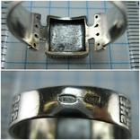 Серебряное Кольцо Перстень Размер 18.0 Проросший Крест Молитва Камни 925 проба Серебро 961, фото №7