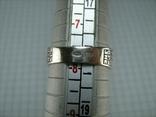 Серебряное Кольцо Перстень Размер 18.0 Проросший Крест Молитва Камни 925 проба Серебро 961, фото №8