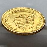 1/5 либры. 1906. Перу (золото 917, вес 1,61 г), фото №8