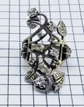 Перстень Серебро 7 грамм, горный хрусталь. СССР., фото №4