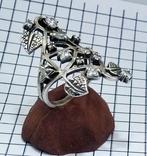 Перстень Серебро 7 грамм, горный хрусталь. СССР., фото №5