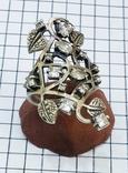 Перстень Серебро 7 грамм, горный хрусталь. СССР., фото №9