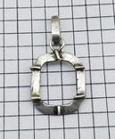 Кулон - подвеска серебро 800 проба, 2.60 грамм, фото №2