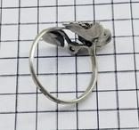 Кольцо серебряная роза с фианитом, 925 советских времен., фото №10
