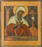 Богородица Страстная, двухковчежная, XVIIв, рубеж, фото №2