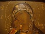 Богородица Владимирская, двухковчежная, рубеж XVII-XVIIIвв., фото №3