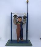 Механическая игрушка СССР клоун на перекладине, фото №2