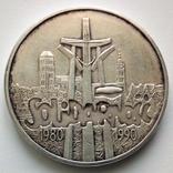 100000 злотых 1990 г. Солидарность, фото №2