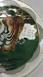 10 Юань 2010г. Год тигра в цвете. Китай. посеребрение., фото №8