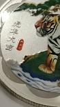 10 Юань 2010г. Год тигра в цвете. Китай. посеребрение., фото №9