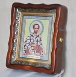 100 разных икон церковных праздников и святых + аналойный киот, фото №3