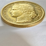 20 франков. 1883. Гельветика. Швейцария (золото 900, вес 6,46 г), фото №12