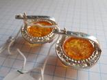 Кольцо и серьги с янтарем 925 проба, фото №10