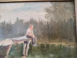 Картина маслом неизвестного художника, фото №3