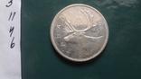 25 центов 1964 Канада серебро (11.4.6)~, фото №4